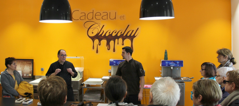 Visite groupe de la chocolaterie Cadeau et Chocolat de Manthelan